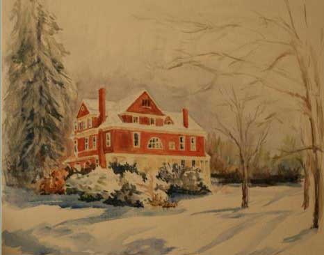 The Harvey House – Radford, VA – Watercolor by Emilie Thompson