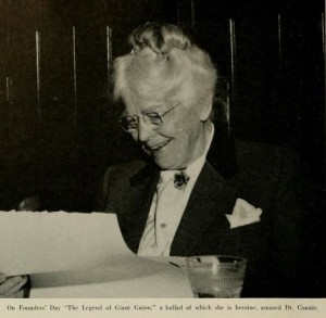 Dr. Guion was an avid supporter of Sweet Briar College, serving on its Board of Directors in the 1950s.  The science building was named in her honor...